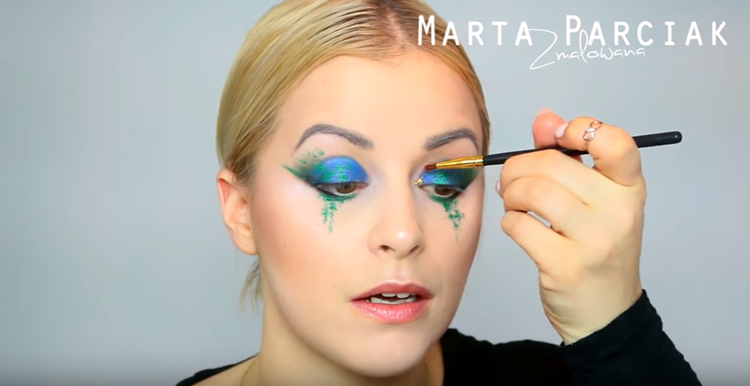 Colour Splash Makeup Tutorial By Zmalowana Beglossy Magazyn