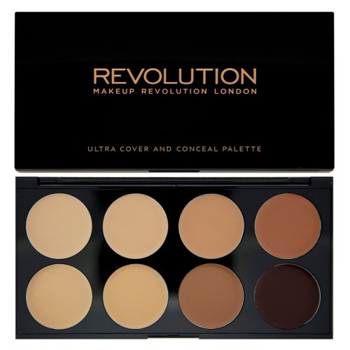 Ultra Professional Cover & Concealer Palette paleta 8 korektorów Medium-Dark