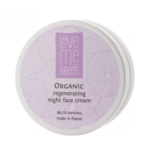 Organic regenerating night face cream