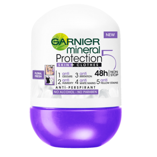 MINERAL PROTECTION 5 FLORAL FRESH ROLL-ON ANTYPERSPIRANT